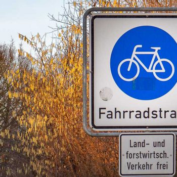 90 Tage Challenge Rad, Fahrradstraße Landwirtschaft