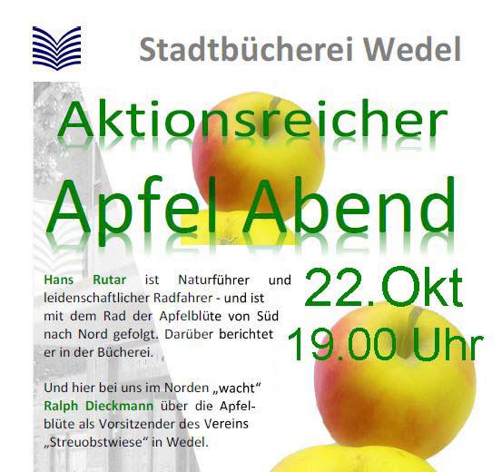 Aktionsreicher Apfelabend Wedel Stadtbücherei Oktober 2019