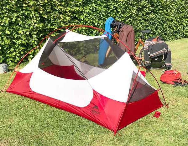 Radwandern mit Zelt: Aufbau und Abbau